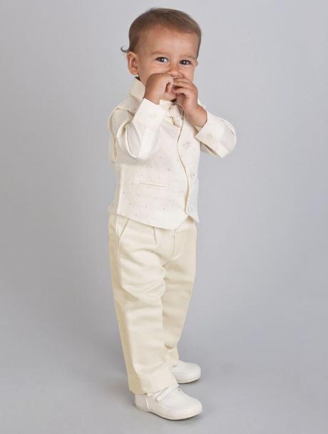 NOVINKA - oblek pro miminko k prodeji, celokrémový, 56