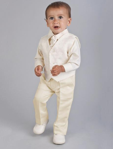 NOVINKA - oblek pro miminko k prodeji, celokrémový, 80