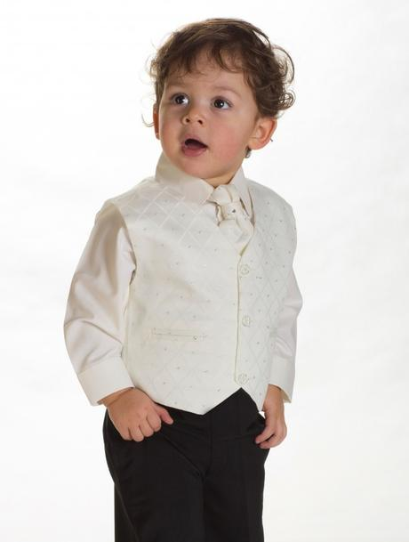 NOVINKA - oblek pro miminko k prodeji, ivory, čern, 56