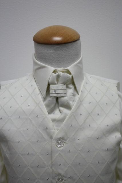 NOVINKA - oblek pro miminko k prodeji, ivory, čern, 80
