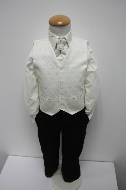 NOVINKA - oblek pro miminko k prodeji, ivory, čern, 92