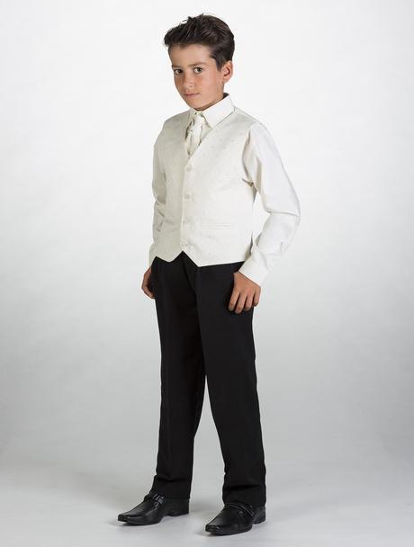 NOVINKA - oblek pro miminko k prodeji, ivory, čern, 122