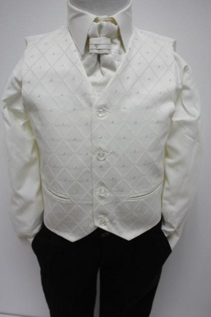 NOVINKA - oblek pro miminko k prodeji, ivory, čern, 104
