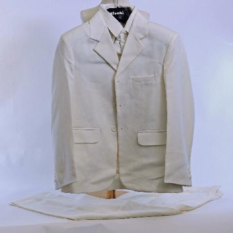 NOVINKA - oblek pro miminko k prodeji, ivory, čern, 134