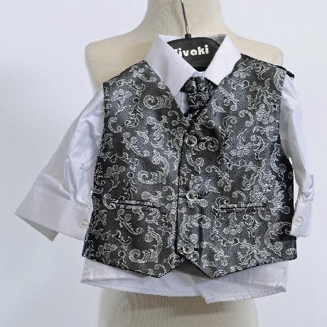 NOVINKA - oblek pro miminko k prodeji, stříbrný, 56