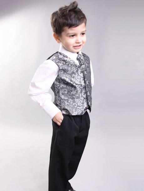 NOVINKA - oblek pro miminko k prodeji, stříbrný, 86