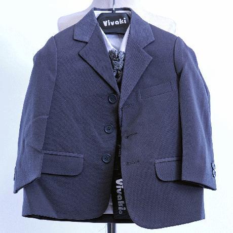 NOVINKA - oblek pro miminko k prodeji, stříbrný, 92