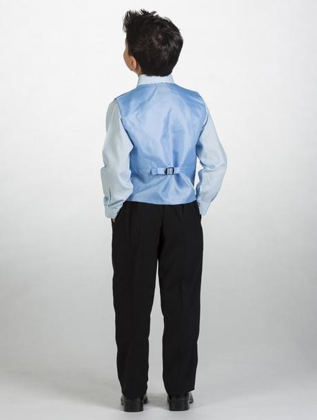 NOVINKA - oblek pro miminko, světle modrý, frak, 80