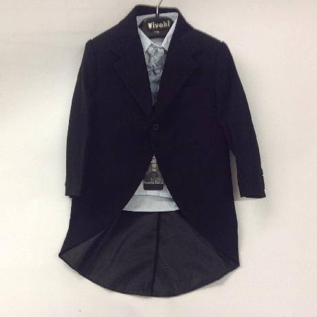 NOVINKA - oblek pro miminko, světle modrý, frak, 92