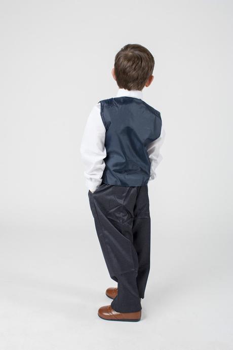 NOVINKA - proužkatý oblek k zapůjčení, 3m-9 let, 92