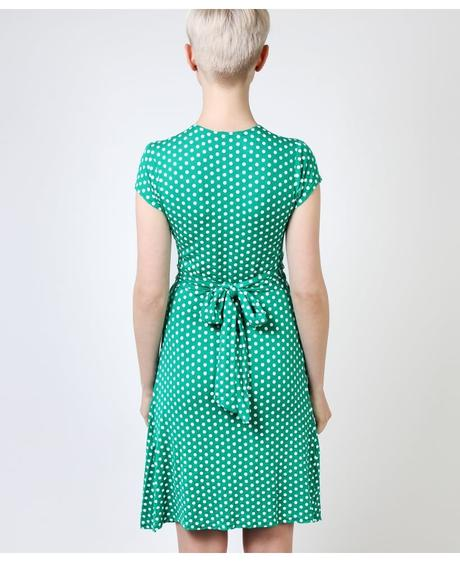 NOVINKA - puntíkaté letní, společenské šaty, 36