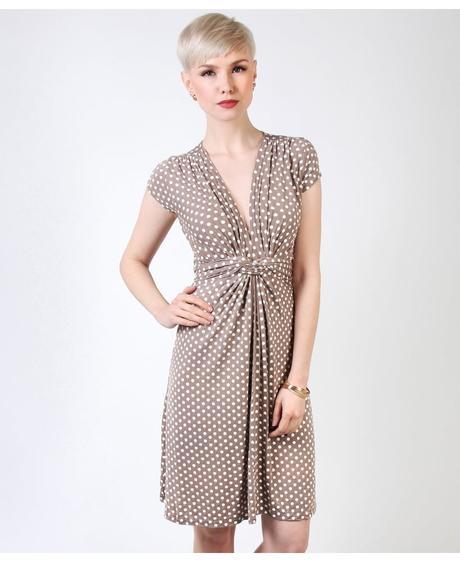 NOVINKA - puntíkaté letní, společenské šaty, 38