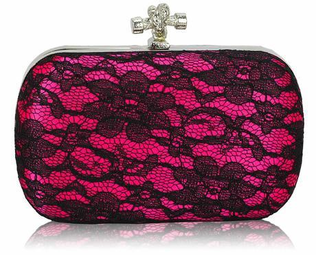 NOVINKA - růžová krajková kabelka,