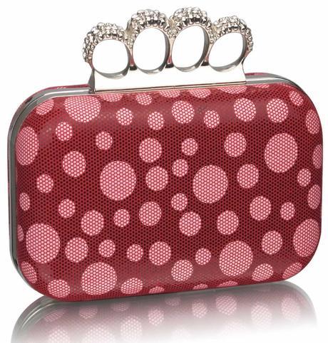 NOVINKA - růžová puntíkatá kabelka,