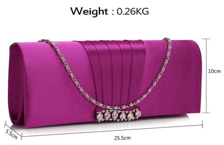NOVINKA - růžová svatební, společenská kabelka,