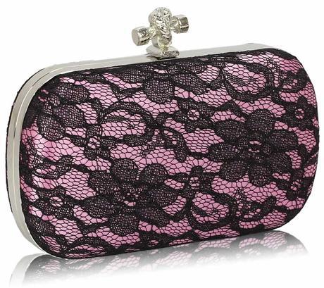 NOVINKA - růžovo-černá kabelka, lodičky,
