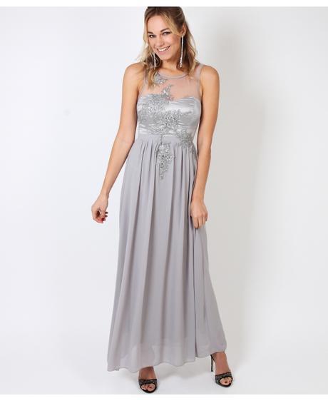 NOVINKA - šedé společenské šaty, 36-42, 36