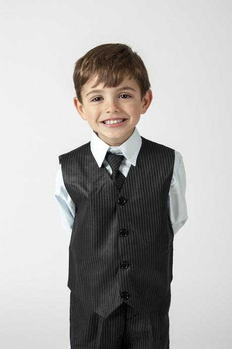 NOVINKA - šedý oblek k zapůjčení, 3m-9 let, 104