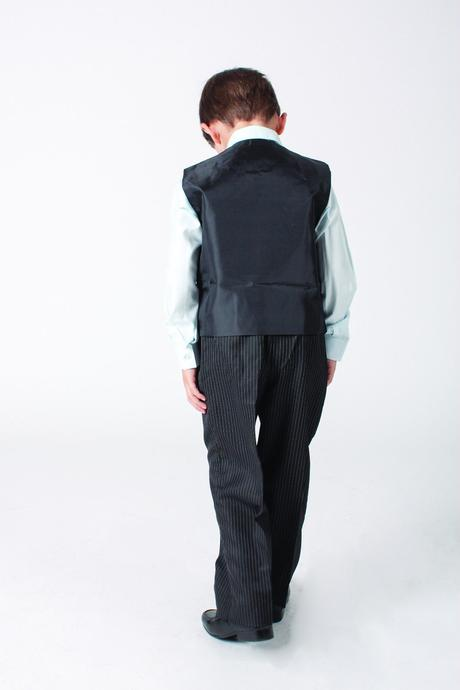 NOVINKA - šedý oblek k zapůjčení, 3m-9 let, 68