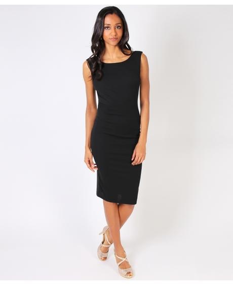 NOVINKA - sexy černé společ.šaty, S,M,L, 38