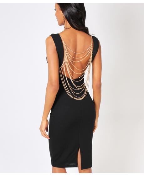 NOVINKA - sexy černé společ.šaty, S,M,L, S