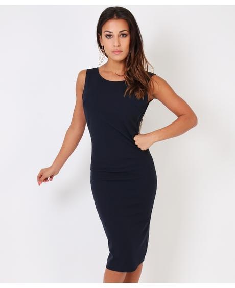 NOVINKA - sexy tmavě modré společ.šaty, S,M,L, 36