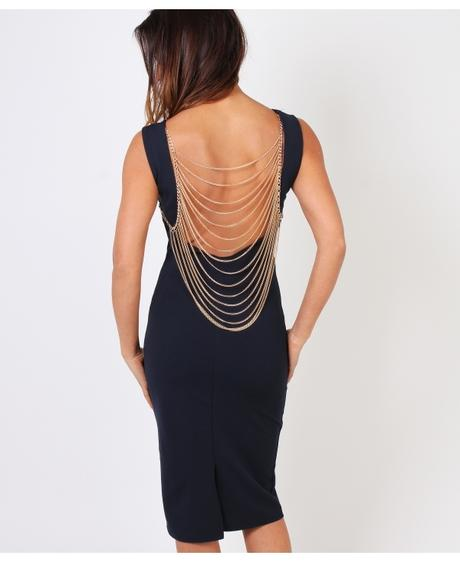 NOVINKA - sexy tmavě modré společ.šaty, S,M,L, M