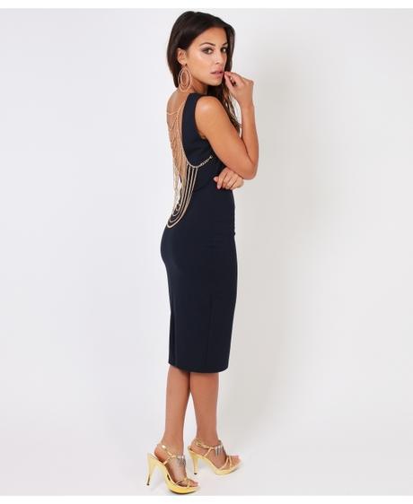 NOVINKA - sexy tmavě modré společ.šaty, S,M,L, S