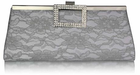 NOVINKA - stříbrná krajková kabelka,