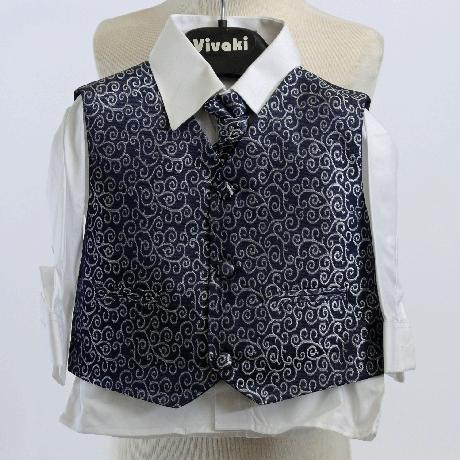 NOVINKA - stříbrný, šedý společenský oblek 0-8 let, 110