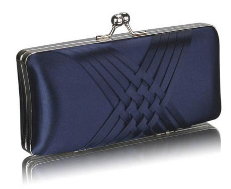 NOVINKA - tmavě modrá společenská kabelka,