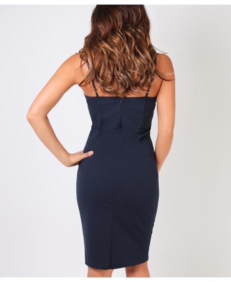 NOVINKA - tmavě modré krátké spol.šaty, 36
