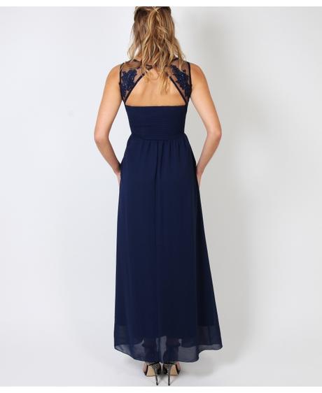 NOVINKA - tmavě modré společenské šaty, 38-44, 42