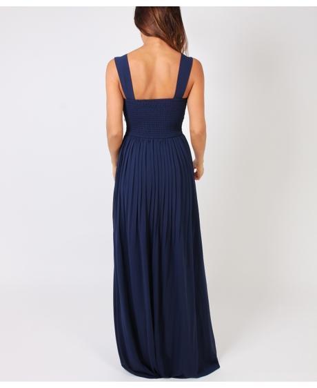 NOVINKA - tmavě modré společenské šaty, pro vyšší , 40