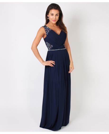 NOVINKA - tmavě modré společenské šaty, pro vyšší , 42