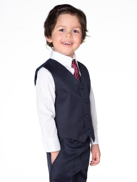 NOVINKA - tmavě modrý oblek, půjčovné, 128