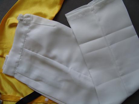 Oblek, kalhoty, motýlek, kšandy 5-7 let, 128