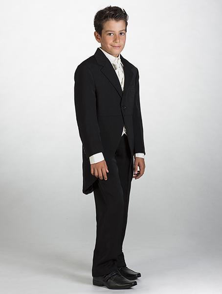 Oblek krémový, 5-6 let - půjčovné - frak , 122