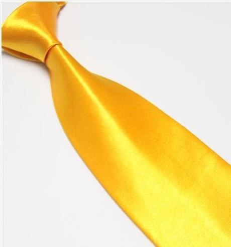 Oranžová pánská kravata,
