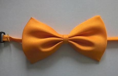 Oranžový dětský motýlek - skladem,