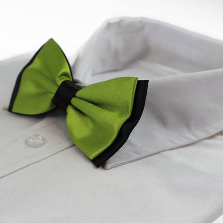 Pánský motýlek - khaki zelený,