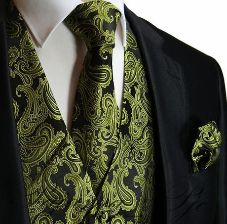 Pánský set - vesta, kravata,  kapesníček, 40