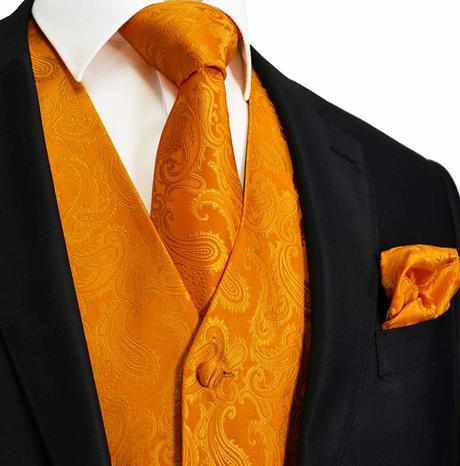 Pánský set - vesta, kravata,  kapesníček, 42