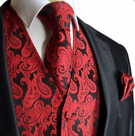 Pánský set - vesta, kravata,  kapesníček, 64
