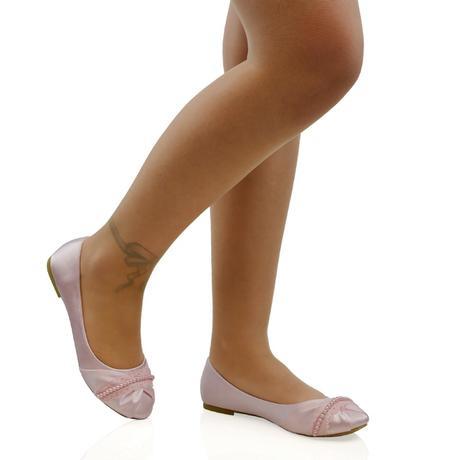PEARLY - růžové saténové baleríny, 36-41, 41