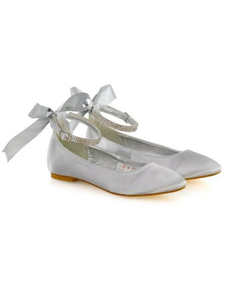 Penelope - svatební saténové baleríny, bez podpatk, 41