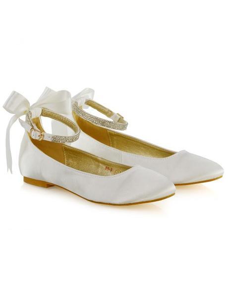 Penelope - svatební saténové baleríny, bez podpatk, 40