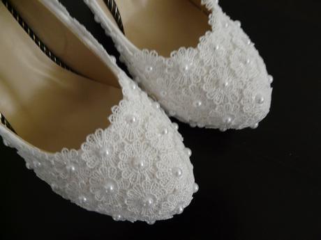 Perličkové svatební lodičky, 35-39, 38