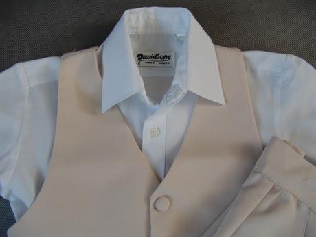 Půjčím/k prodeji béžový oblek, 2-3 roky, 92