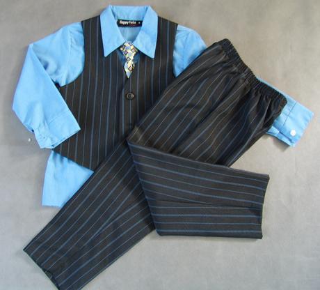 Půjčím/k prodeji modro-černý oblek 3-5 let, 104